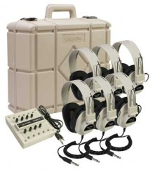 6-Position Listening Centers with Carrying Case