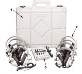 8-Position Listening Centers with  2924AV Headphones and Carrying Case
