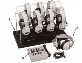 8-Position Listening Centers with 2924AV Headphones and Storage Rack