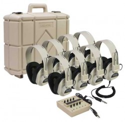 8-Position Listening Centers with Carrying Case