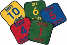 Kit of 10 Bilingual Number Squares