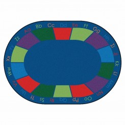 Oval Colorful Places Seating Rug