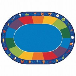 Oval Fun with Phonics Rug
