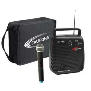 10 Watt RMS VHF PA system, handheld wireless mic, carry case
