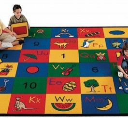 Rectangle Blocks of Fun Rug
