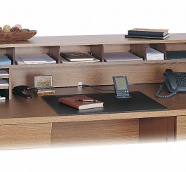 Desk Top Organizer Wood Low Profile  57 1/2 In W
