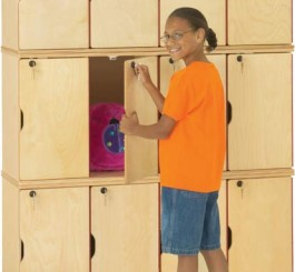 Jonti-Craft  Stacking Lockable Locker - Triple Stack