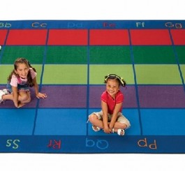 Rectangle Colorful Places Seating Rug