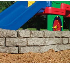 4' Stone Border Timber - Straight Section