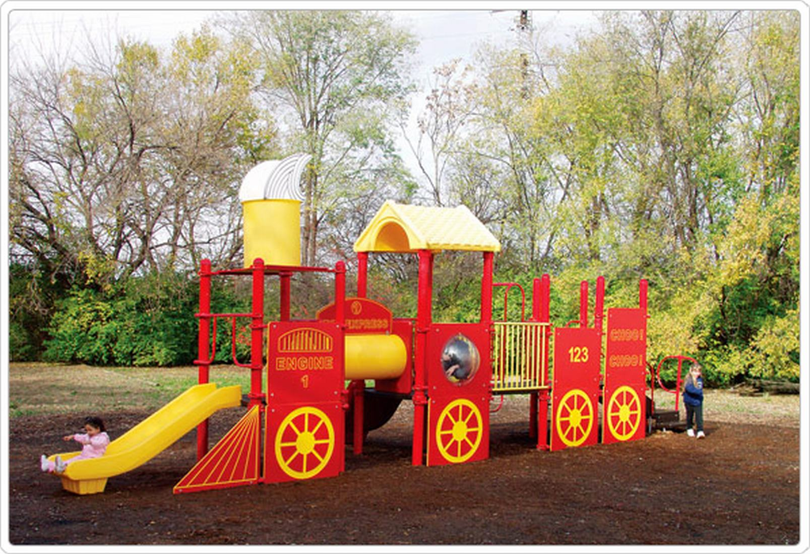 Home Depot Play Equipment : Playground train jr educator s depot