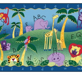 Alphabet Jungle Rug