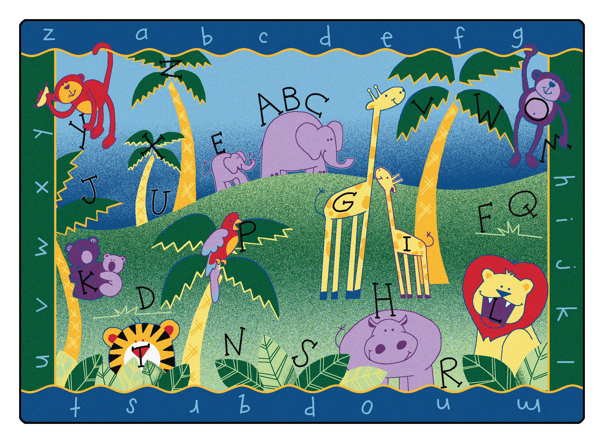 9312 8 4 Quot X 11 8 Quot Quot Alphabet Jungle Quot Rug Educator S Depot