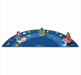 Semi Circle Fun with Phonics Rug