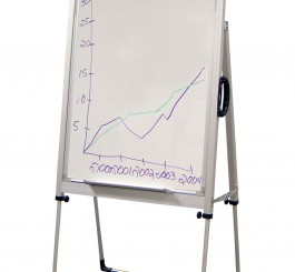 Adj. Flipchart Board w/ Handle 40-47'' H