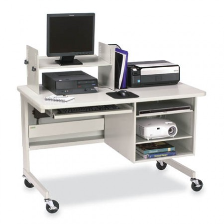 Multimedia Workstation with Open Cabinet