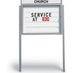 "48""X48"" Cathedral Outdoor Readerboard"
