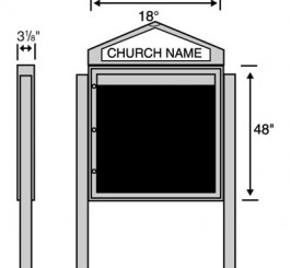"2"" x 2"" x 96"" Single Sided Sign Posts (Set of 2)"