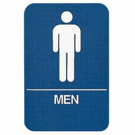 Sign Men Restroom Ada Compliant