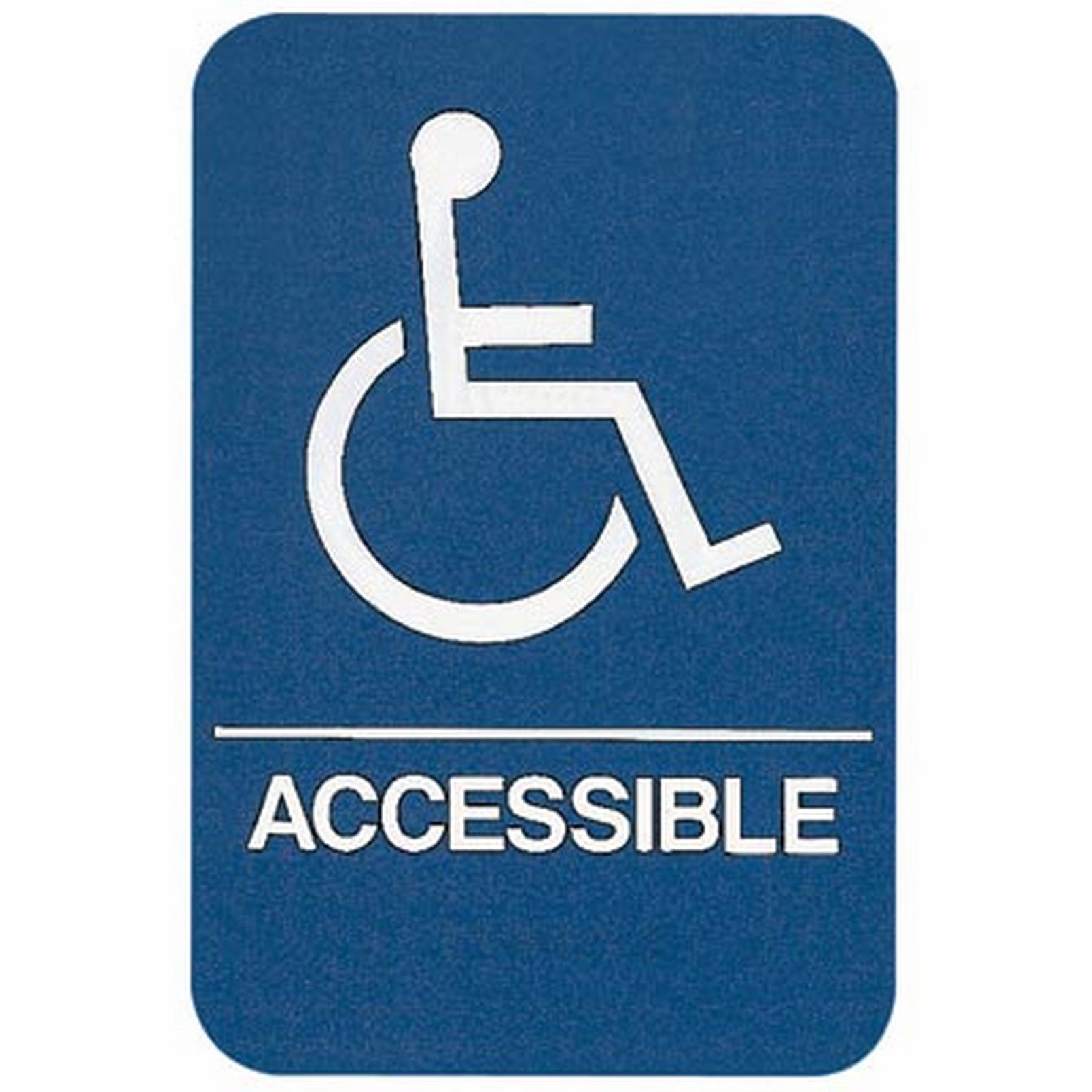 sign wheelchair accessible ada compliant