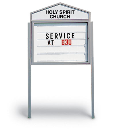48quotx36quot cathedral outdoor readerboard educator39s depot for Outdoor reader board letters