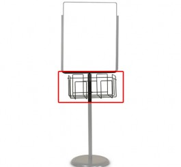 "Basket, For Poster Pedestal Holders, 17""W x 6.5""H x 11""D"