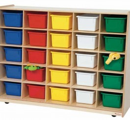 Tip-Me-Not 25 Tray Storage with Assorted Trays