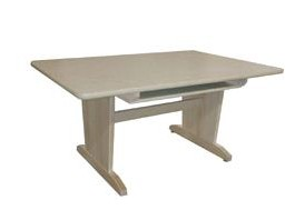 "Art table w/ Bookshelf, 42"" x 60"" Plastic Laminate Top"