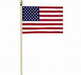 United States Classroom Flag on Wood Staff