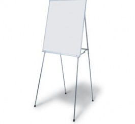 4 Legged White Magnetic Dry Erase Easel