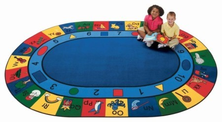 "Oval ""Blocks of Fun"" Rug-6"