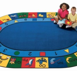 "Oval ""Blocks of Fun"" Rug-8"
