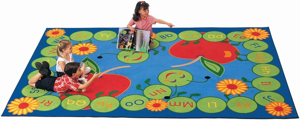 "Rectangle ""ABC Caterpillar"" Rug"