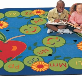"Oval ""ABC Caterpillar"" Rug"