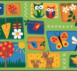"Rectangle ""Nature's Toddler"" Rug-4' x 6'"