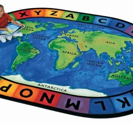 "Oval ""Circletime Around the World"" Rug-8'3"" x 11'8"""