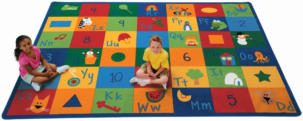 "Rectangle ""Learning Blocks"" Rug"