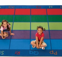 "Rectangle ""Colorful Places"" Seating Rug-7'6"" x 12'"