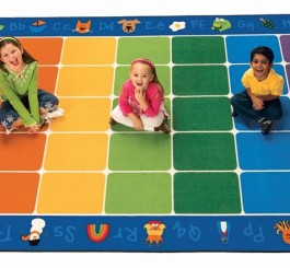 "Rectangle ""Fun with Phonics"" Rug-7"