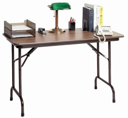 Keyboard Height Folding Table-Melamine
