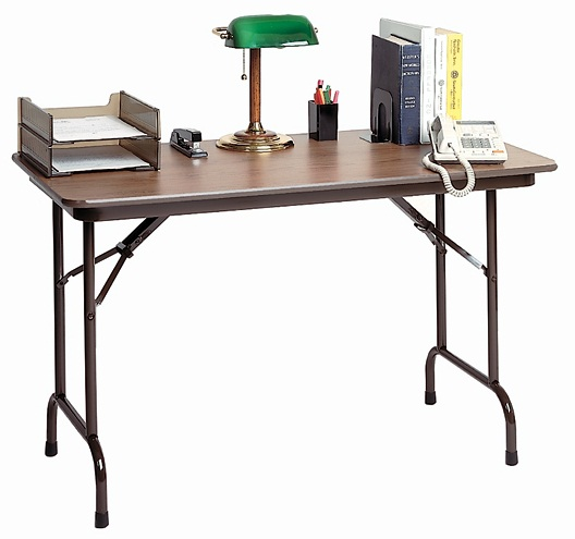 keyboard height folding table melamine educator 39 s depot. Black Bedroom Furniture Sets. Home Design Ideas