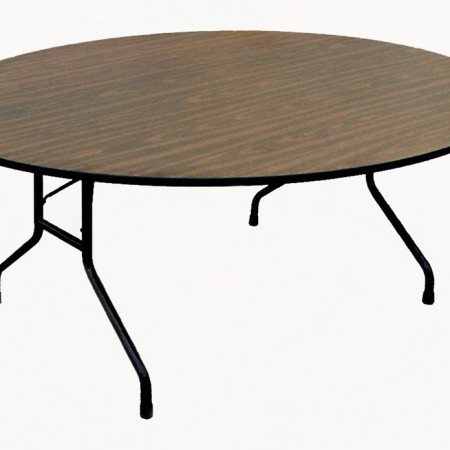 High-Pressure Laminate Fixed Height Round Folding Table