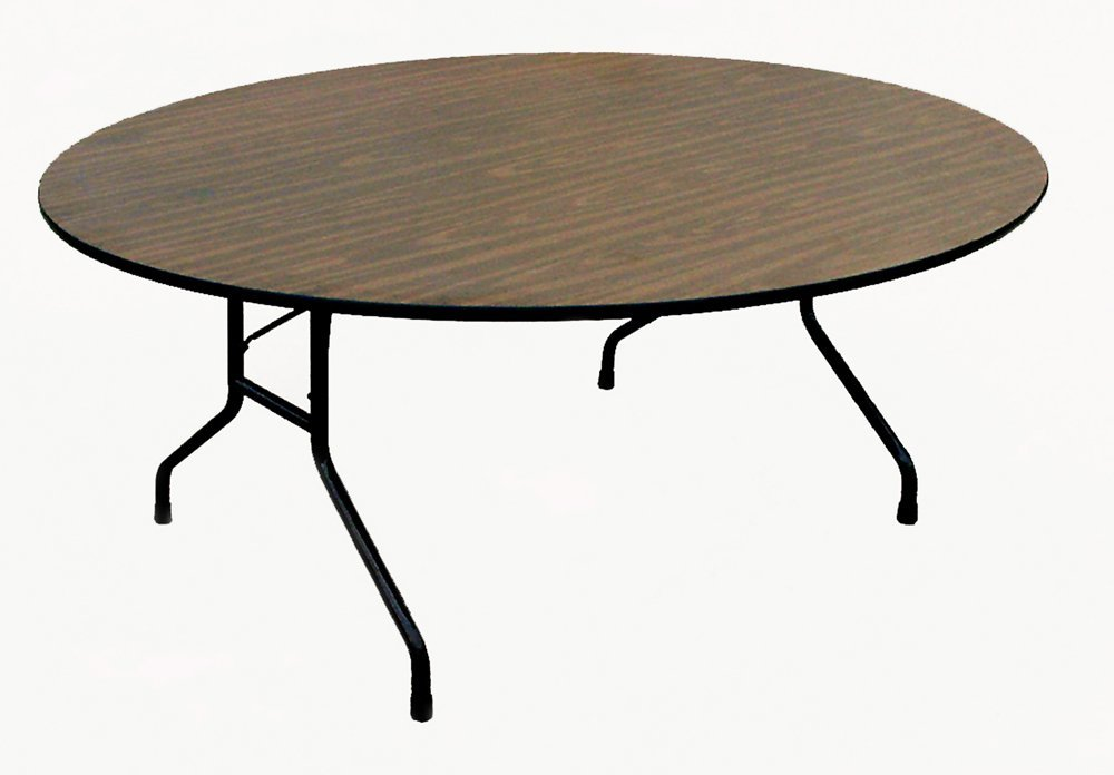 high pressure laminate fixed height round folding table educator 39 s depot. Black Bedroom Furniture Sets. Home Design Ideas