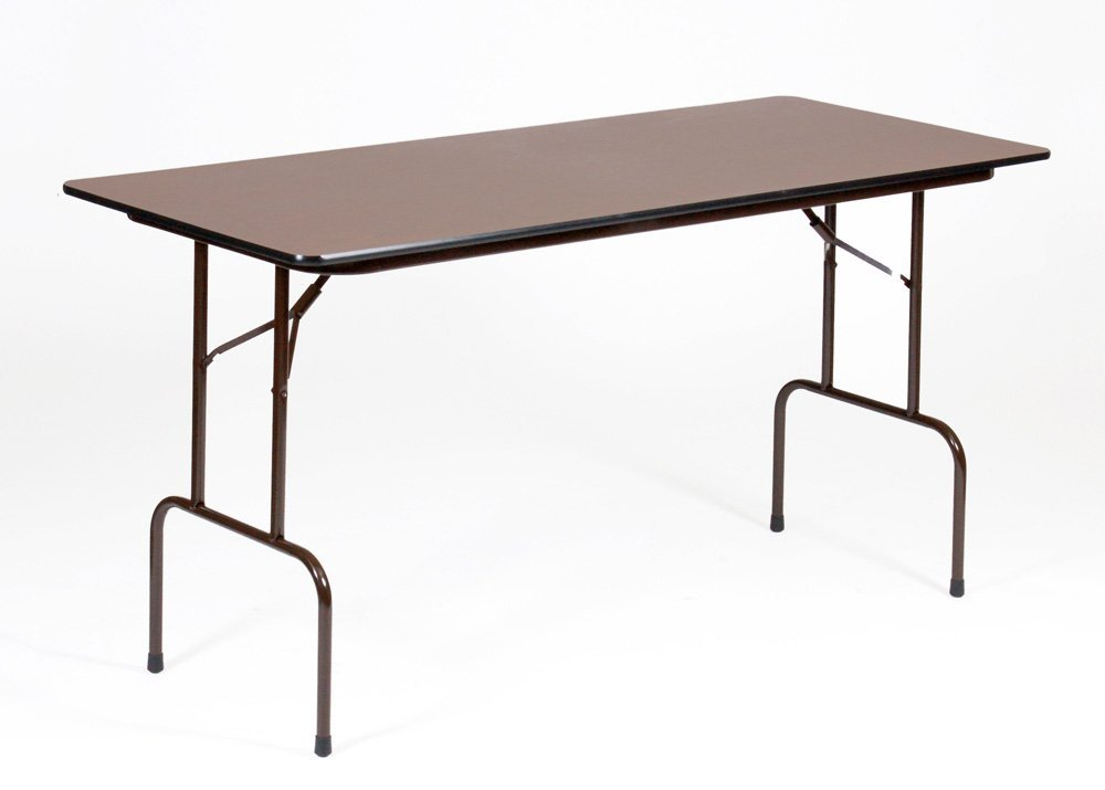 High pressure laminate fixed height folding table for Counter height folding table