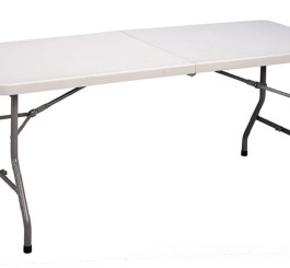 Blow-Molded Fold-in-Half Table