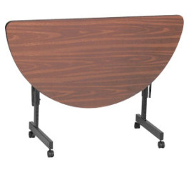 Half Round Flip Top Table