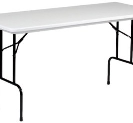 "Blow-Molded Counter Height Folding Table 30"" x 72"""