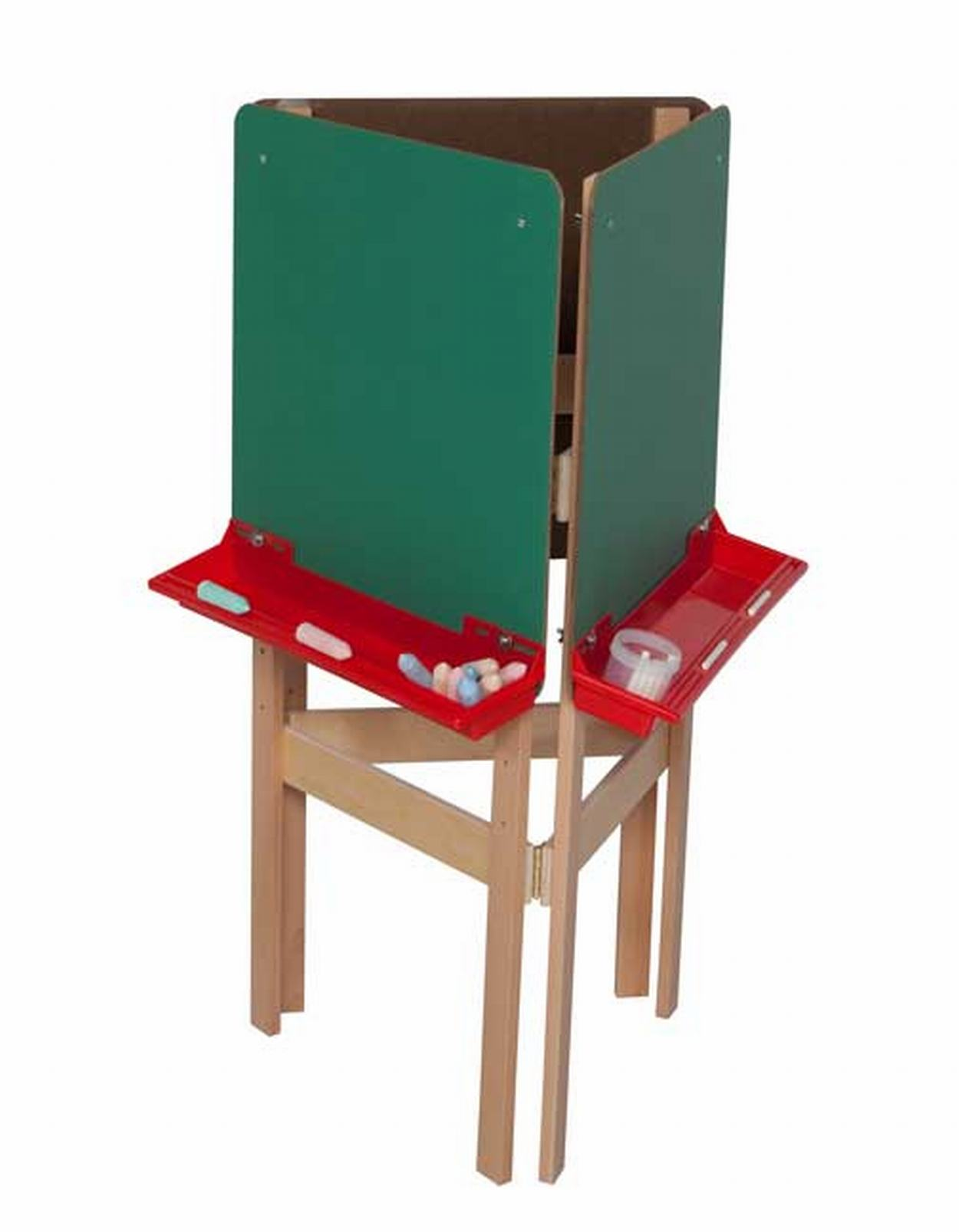 Three-Way Adjustable Easel with Chalkboard