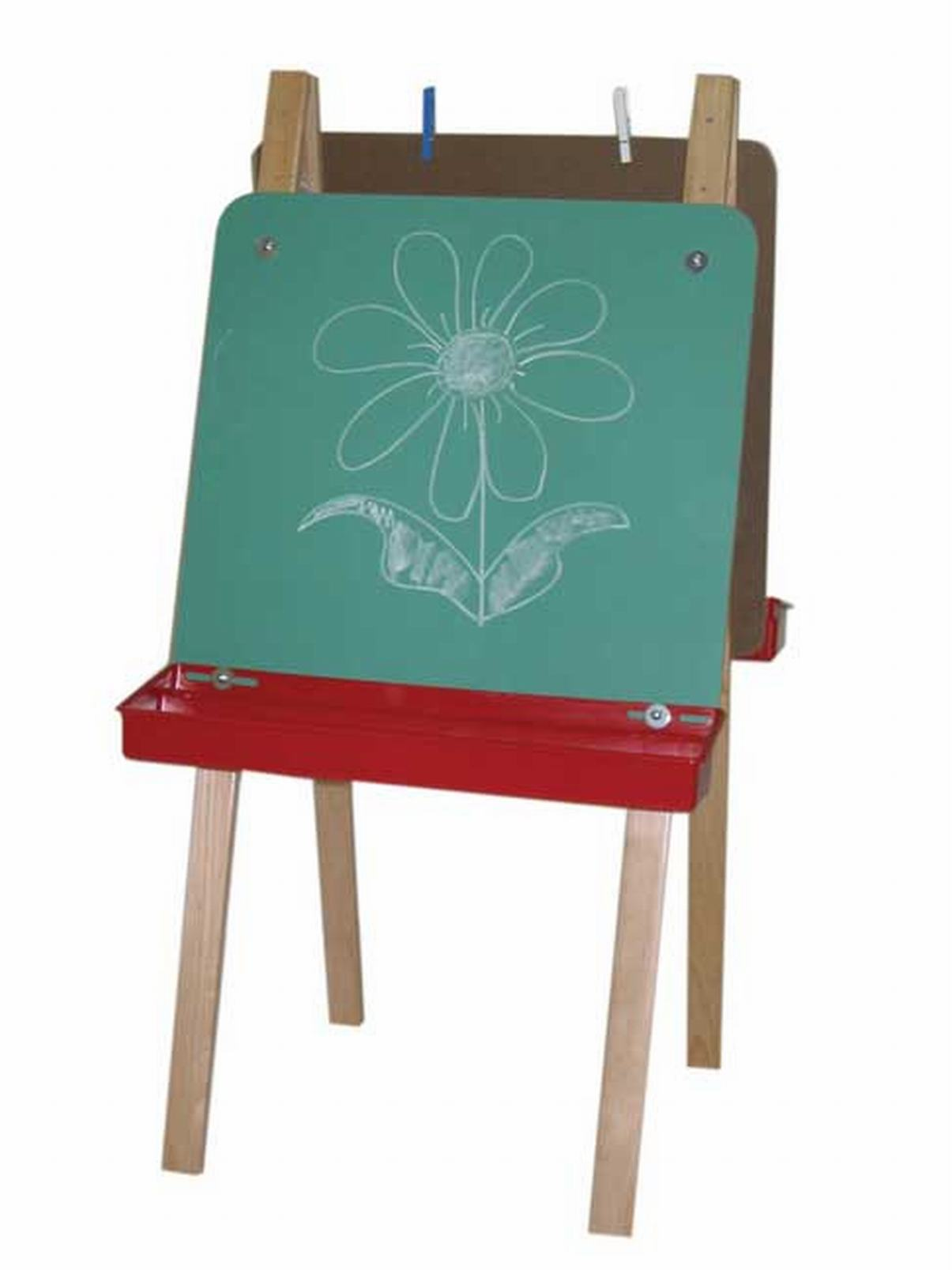 Double Adjustable Easel With Chalkboard Educator S Depot