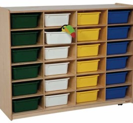 Storage with 24 Rectangular Trays