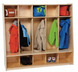 Tip-Me-Not 5-Section Seat Lockers